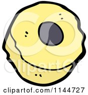 Cartoon Of A Piece Of Licorice Candy Royalty Free Vector Clipart