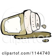 Cartoon Of A Spilled To Go Coffee Cup 3 Royalty Free Vector Clipart by lineartestpilot