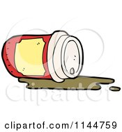 Cartoon Of A Spilled To Go Coffee Cup 6 Royalty Free Vector Clipart