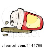 Cartoon Of A Spilled To Go Coffee Cup 4 Royalty Free Vector Clipart