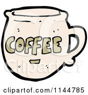 Cartoon Of A Beige Coffee Mug 3 Royalty Free Vector Clipart by lineartestpilot