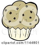Cartoon Of A Muffin Royalty Free Vector Clipart