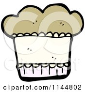 Cartoon Of A Muffin Royalty Free Vector Clipart by lineartestpilot