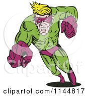 Male Superhero Running And Pointing 3