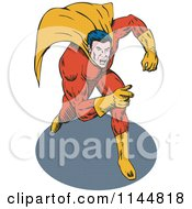 Male Superhero Running And Pointing 2