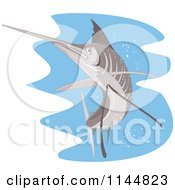 Clipart Of A Retro Sailfish 8 Royalty Free Vector Illustration by patrimonio