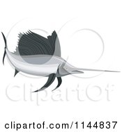 Clipart Of A Retro Sailfish 11 Royalty Free Vector Illustration