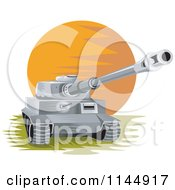 Clipart Of A Military Tank 1 Royalty Free Vector Illustration