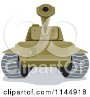 Clipart Of A Military Tank 2 Royalty Free Vector Illustration