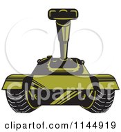 Clipart Of A Military Tank 3 Royalty Free Vector Illustration