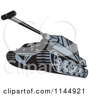 Clipart Of A Military Tank 5 Royalty Free Vector Illustration
