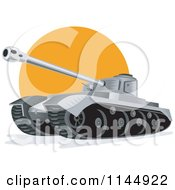 Clipart Of A Military Tank 6 Royalty Free Vector Illustration