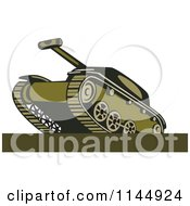 Clipart Of A Military Tank 7 Royalty Free Vector Illustration by patrimonio