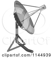 Clipart Of A Satellite Dish Royalty Free Vector Illustration by patrimonio
