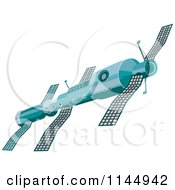 Clipart Of A Soviet Space Satellite Royalty Free Vector Illustration by patrimonio