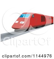 Clipart Of A Retro Red Train 2 Royalty Free Vector Illustration