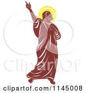 Clipart Of A Retro Saint Paul And Glowing Light Royalty Free Vector Illustration