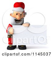 Clipart Of A 3d Christmas Santa With A Sign 4 Royalty Free CGI Illustration