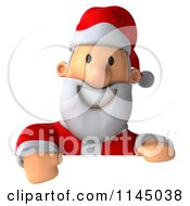 Clipart Of A 3d Christmas Santa With A Sign 2 Royalty Free CGI Illustration by Julos