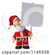 Clipart Of A 3d Christmas Santa With A Sign 3 Royalty Free CGI Illustration