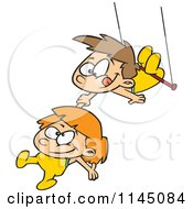 Boy And Girl On A Trapeze