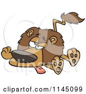 Cartoon Of A Lazy Or Sick Lion Royalty Free Vector Clipart