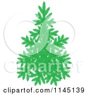 Cartoon Of An Evergreen Christmas Tree Royalty Free Vector Clipart