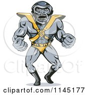 Clipart Of A Big Headed Villain Royalty Free Vector Illustration by patrimonio