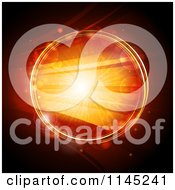 Clipart Of A Glowing Orange Circle With Bright Lights Royalty Free Vector Illustration by elaineitalia
