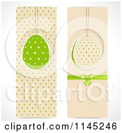 Clipart Of Two Tall Easter Banners Royalty Free Vector Illustration