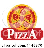 Clipart Of A Pizza Pie Logo 6 Royalty Free Vector Illustration