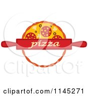 Clipart Of A Pizza Pie Logo 7 Royalty Free Vector Illustration