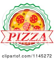 Clipart Of A Pizza Pie Logo 5 Royalty Free Vector Illustration