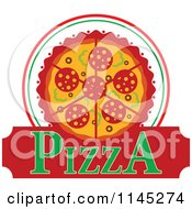 Clipart Of A Pizza Pie Logo 4 Royalty Free Vector Illustration