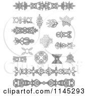 Grayscale Celtic Design Elements 2