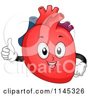 Cartoon Of A Human Heart Mascot Holding A Thumb Up Royalty Free Vector Clipart by BNP Design Studio