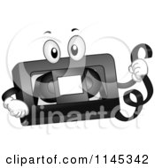 Cartoon Of A VHS Tape Mascot Royalty Free Vector Clipart