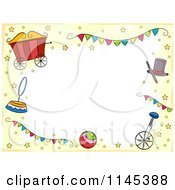 Cartoon Of A Circus Border With Copyspace And Stars Royalty Free Vector Clipart
