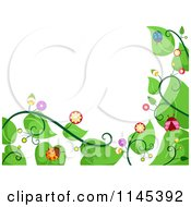 Cartoon Of A Vine And Ladybug Border Royalty Free Vector Clipart by BNP Design Studio