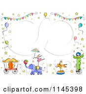 Cartoon Of A Circus Frame Royalty Free Vector Clipart by BNP Design Studio