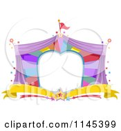 Cartoon Of A Circus Tent Frame Royalty Free Vector Clipart