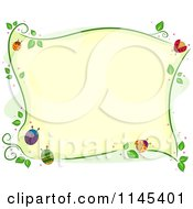 Cartoon Of A Border Of Colorful Ladybugs And Vines Royalty Free Vector Clipart by BNP Design Studio