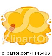 Cartoon Of A Dipper Over Honey Royalty Free Vector Clipart by BNP Design Studio