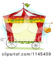 Cartoon Of A Circus Wagon Frame Royalty Free Vector Clipart by BNP Design Studio