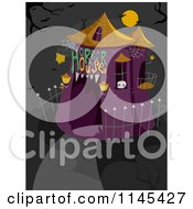 Cartoon Of A Halloween Horror House Royalty Free Vector Clipart