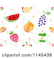 Cartoon Of A Seamless Pattern Of Fruits Royalty Free Vector Clipart by BNP Design Studio