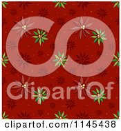 Cartoon Of A Seamless Pattern Of Poinsettias Royalty Free Vector Clipart by BNP Design Studio