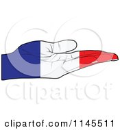 Clipart Of A French Flag Hand With Its Palm Facing Up Royalty Free Vector Illustration by Andrei Marincas