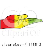 Clipart Of A Guinea Flag Hand With Its Palm Facing Up Royalty Free Vector Illustration by Andrei Marincas
