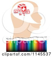 Clipart Of A Help Cross Head Over Colors Royalty Free Vector Illustration by Andrei Marincas